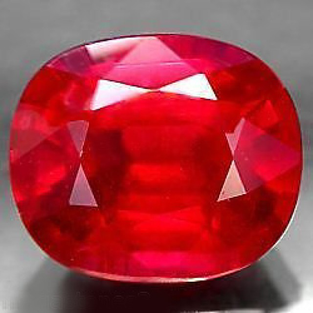 VERY NICE NATURAL TOP BLOOD RED RUBY 2,50 CTS