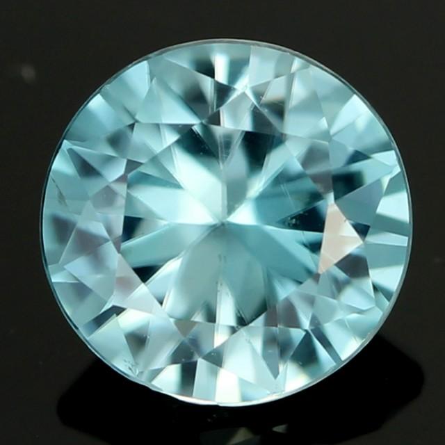 2.00 cts CERT  Diamond Cut Blue Zircon (ZCB35)