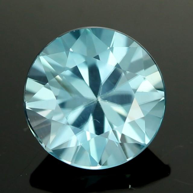 2.20 cts CERT  Diamond Cut Blue Zircon (ZCB31)