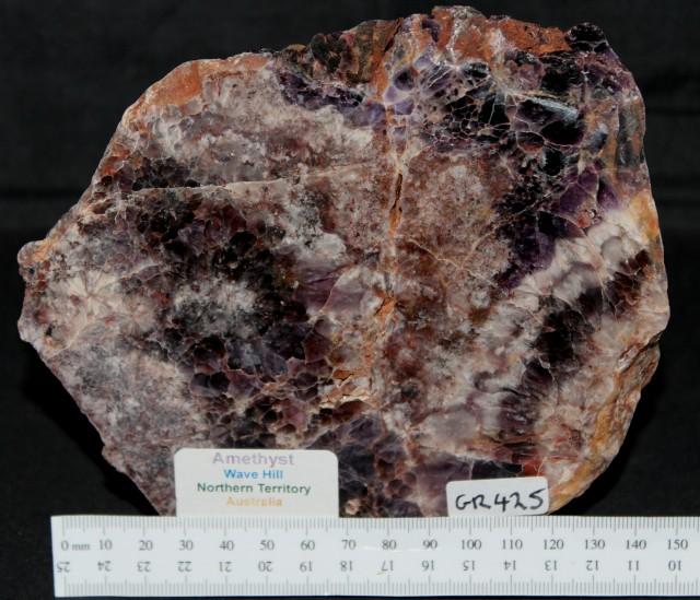 AMETHYST Wave Hill Polished Slice, Australia (GR425)