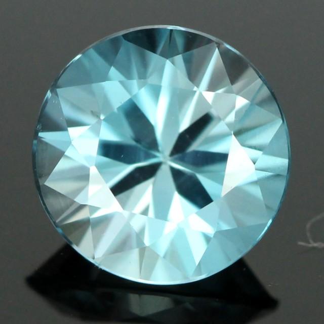 2.12 CTS CERT DIAMOND CUT BLUE ZIRCON (ZCB33)