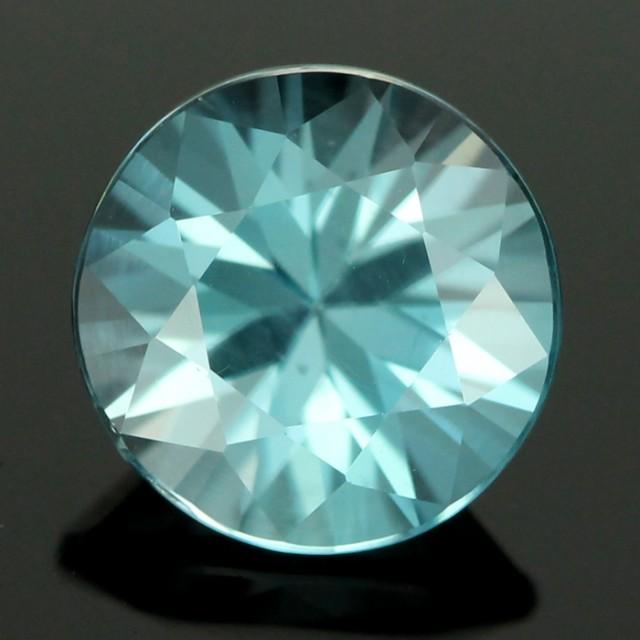 1.89 CTS CERT DIAMOND CUT BLUE ZIRCON (ZCB37)