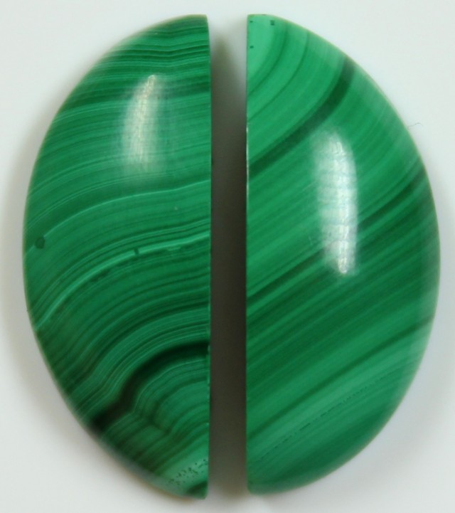 16.5 CTS MALACHITE PAIR OF STONE TOP GLOSSY POLISH ON STONES
