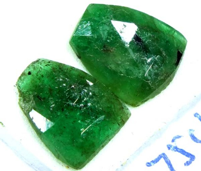 FACETED PAIR EMERALD 1.75   CTS ADG-91