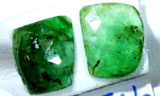 2.87 CTS  EMERALD FACETED PAIR ADG-98