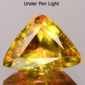 Sparkles with Brilliance Bright GreenYellow Sphene VVSRS33/1