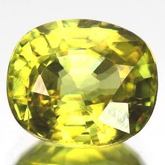 Sparkles with Brilliance BrightYellow Green Sphene VSRS33/7
