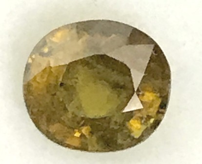 Sparkles with Brilliance Bright Yellowish Green  Sphene VVSRS33/8