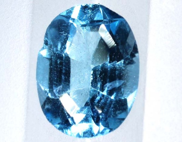 BLUE TOPAZ  NATURAL STONE FACETED  2.1 CTS TBG 671