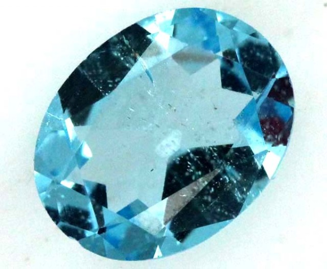 BLUE TOPAZ  NATURAL STONE FACETED  1.75 CTS TBG 673