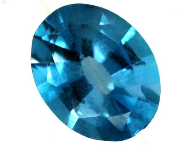 BLUE TOPAZ  NATURAL STONE FACETED  1.95 CTS TBG 674