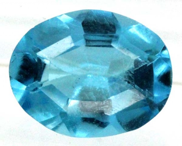 BLUE TOPAZ  NATURAL STONE FACETED 2.15  CTS TBG 677