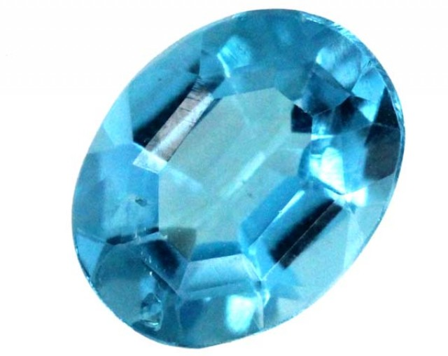 BLUE TOPAZ  NATURAL STONE FACETED 2.2  CTS TBG 678