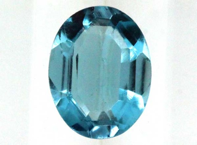 BLUE TOPAZ  NATURAL STONE FACETED  2.1 CTS TBG 680