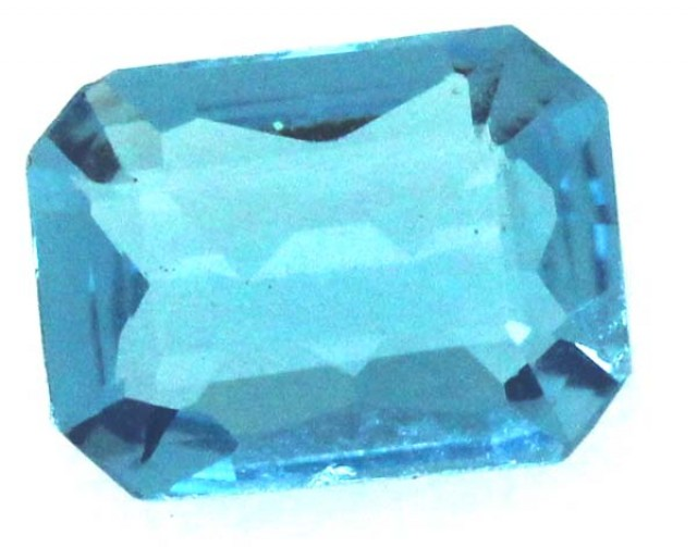 BLUE TOPAZ  NATURAL STONE FACETED  1.4  CTS TBG 681
