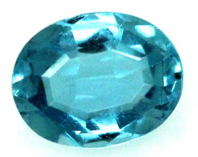 BLUE TOPAZ  NATURAL STONE FACETED 2.35  CTS TBG 687