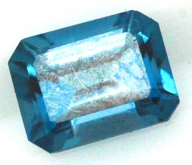 BLUE TOPAZ  NATURAL STONE FACETED  1.9 CTS TBG 689