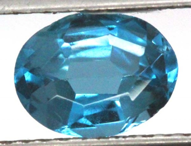 BLUE TOPAZ  NATURAL STONE FACETED 2.45  CTS TBG 698
