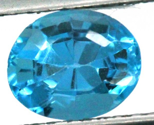 BLUE TOPAZ  NATURAL STONE FACETED 2.15   CTS TBG 699
