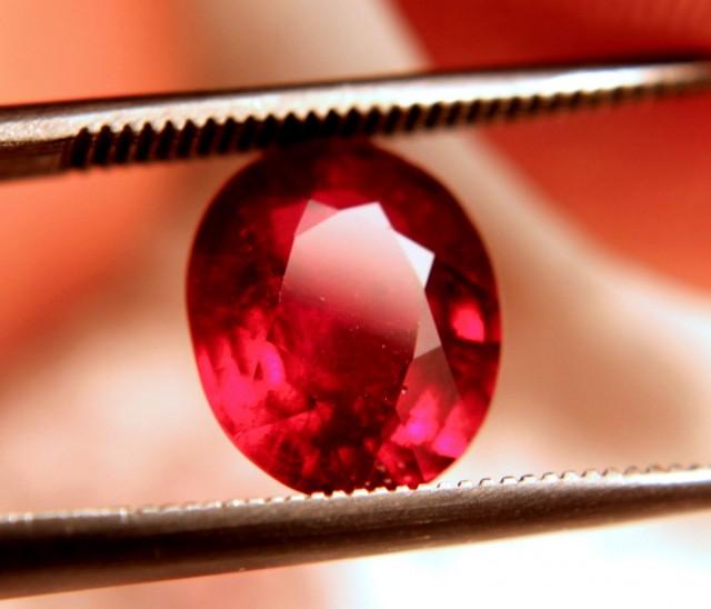 3.14 Carat VS2 Pigeon Blood Ruby - Gorgeous Gemstone
