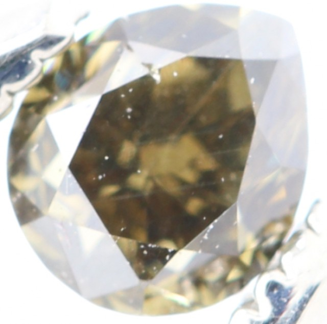 SPARKLING BROWNISH YELLOW NATURAL DIAMOND 0.255Cts