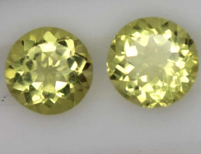 LEMON QUARTZ  PAIR  3.4  CTS   TBG-720