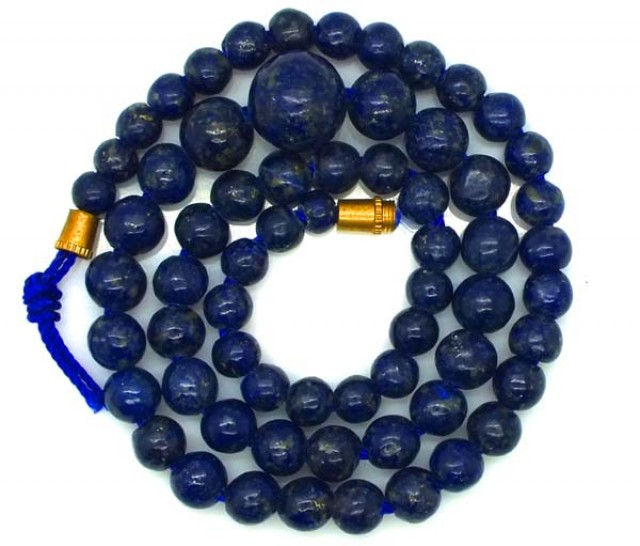 LAPIS BEADS DRILLED  NATURAL  92.5  CTS NP-237