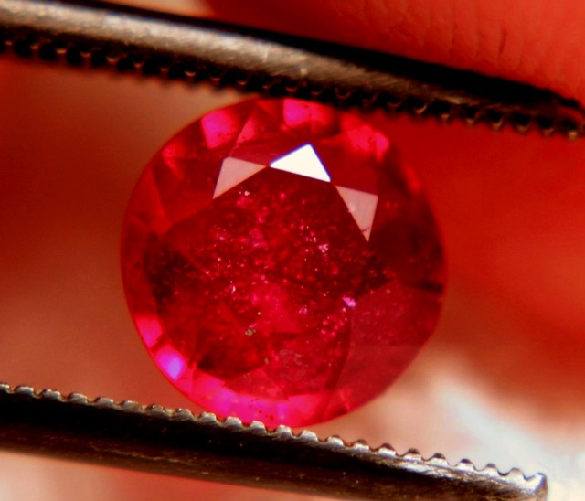 1.33 Carat Pigeon Blood1 Ruby - Lots of Inclusions
