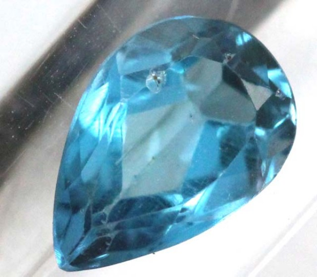 BLUE TOPAZ  NATURAL STONE FACETED 1.75  CTS TBG-826