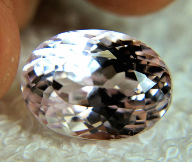 19.0 Carat Himalayan Lightest Pink Kunzite - Superb