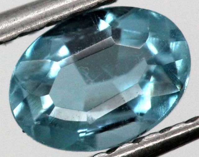 BLUE TOPAZ  NATURAL STONE FACETED 1.15  CTS TBG-868