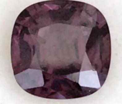 Plum Purple Cushion Cut Spinel - Tanzania  H666