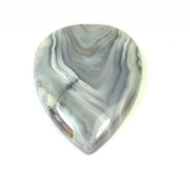 botswana agate cabochon pear shape