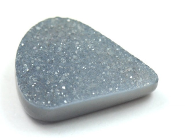 20mm black grey DRUZY AGATE CABOCHON pear shape 20 x 15 x 6