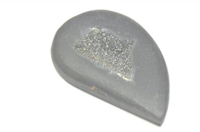 43mm matt black DRUZY AGATE drop shape CABOCHON 43 x 27 x 5
