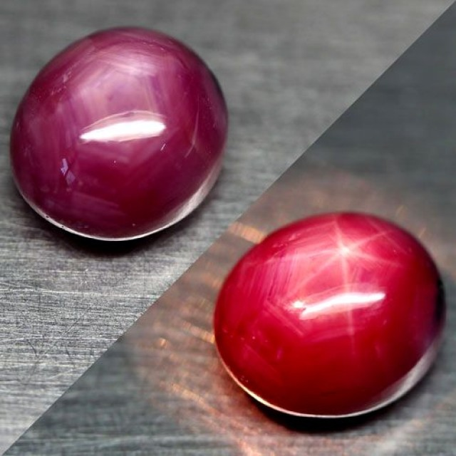 6.90 Carat Pinkish Red Star Ruby - Superb