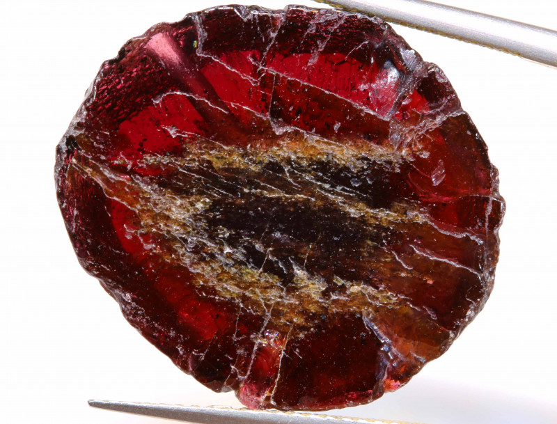 32.50 RUBY RED GARNET BEAD DRILLED   ADG-486