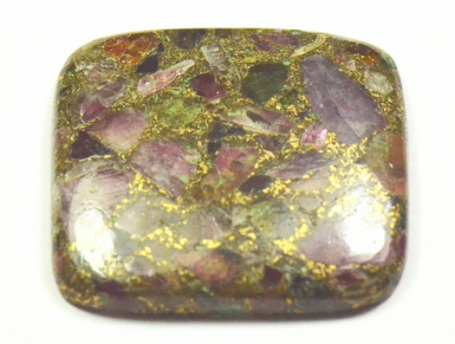 SALE 32mm Mohave Tourmaline Bronzed cabochon 32 by 31 by 4.5mm 47.20ct