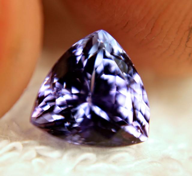 CERTIFIED - 3.26 Carat IF/VVS1 African BLuish Violet Tanzanite