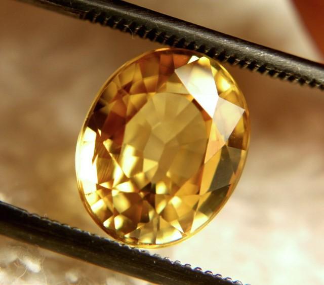 3.48 Carat VVS1 Golden Yellow Zircon - Superb
