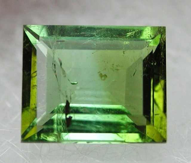 1.70ct YELLOW GREEN FACETED TOURMALINE GEM FROM MOZAMBIQUE
