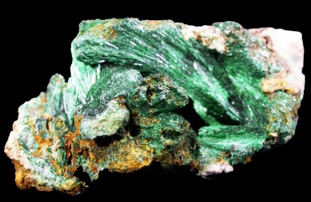 Malachite uncut stone
