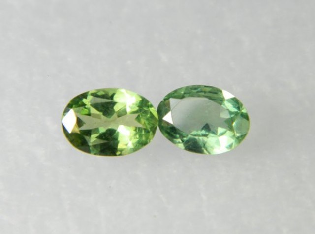 AAA+ Brazil Olive Apatite Faceted Stone Pair Z 1172