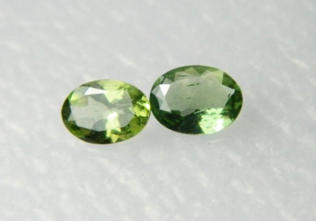 AAA+ Brazil Olive Apatite Faceted Stone Pair Z 1176