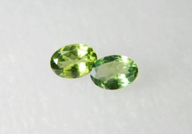 AAA+ Brazil Olive Apatite Faceted Stone Pair Z 1180