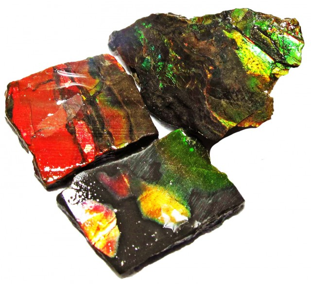 28.38 CTS AMMOLITE  ROUGH PARCEL SPECIMEN FROM CANADA  F5200
