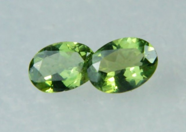 AAA+ Brazil Olive Apatite Faceted Stone Pair Z 1183