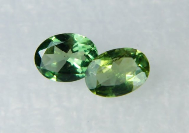 AAA+ Brazil Olive Apatite Faceted Stone Pair Z 1131