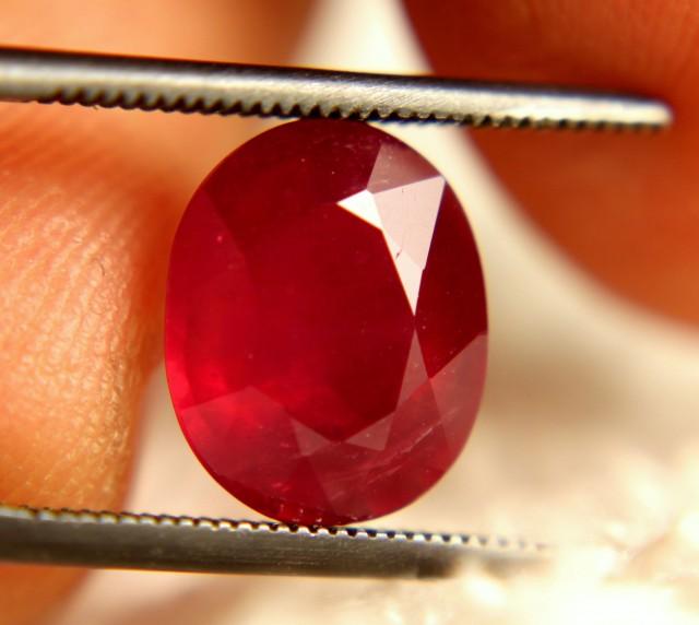 3.95 Carat Fiery VS2 Pinkish Ruby - Beautiful