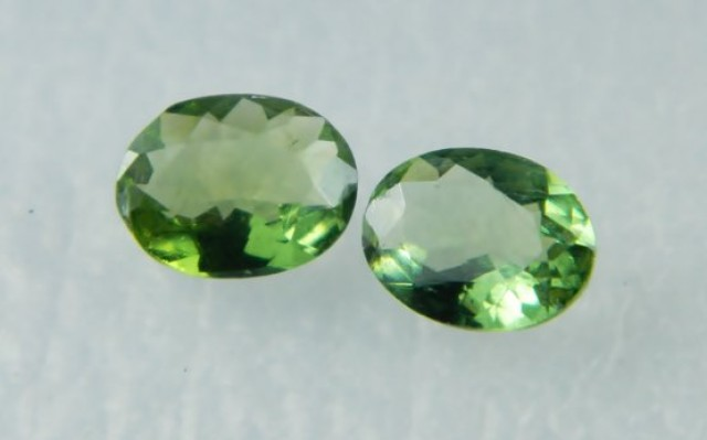 AAA+ Brazil Olive Apatite Faceted Stone Pair Z 2032